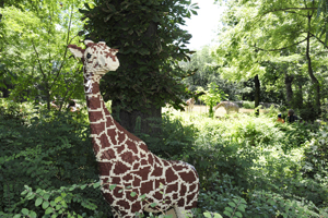 LEGO giraffe at the Bronx Zoo