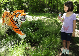 LEGO tiger at the Bronx Zoo