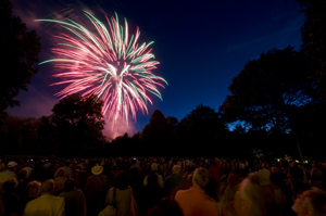 Fourth of July fireworks, Fairfield County CT