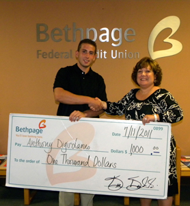 Bethpage Federal Credit Union Foundation Scholarship winner 2011