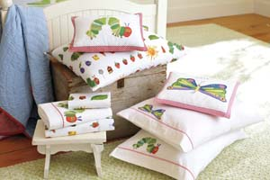 very hungry caterpillar bedding from pottery barn