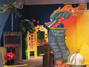Dragons & Fairies exhibit at Long Island Children's Museum
