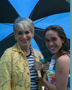 Swim for Hospice; Tess Raso, Ashley Marinello