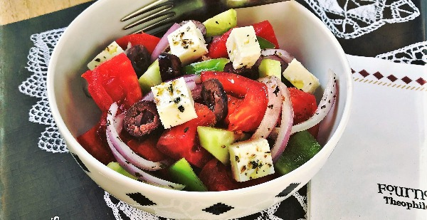 greek salad fournos times square