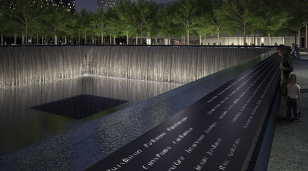 The National 9/11 Memorial in NYC