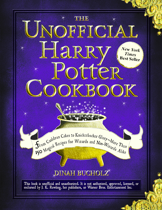 """Book cover for the """"The Unnoffical Harry Potter Cookbook"""""""