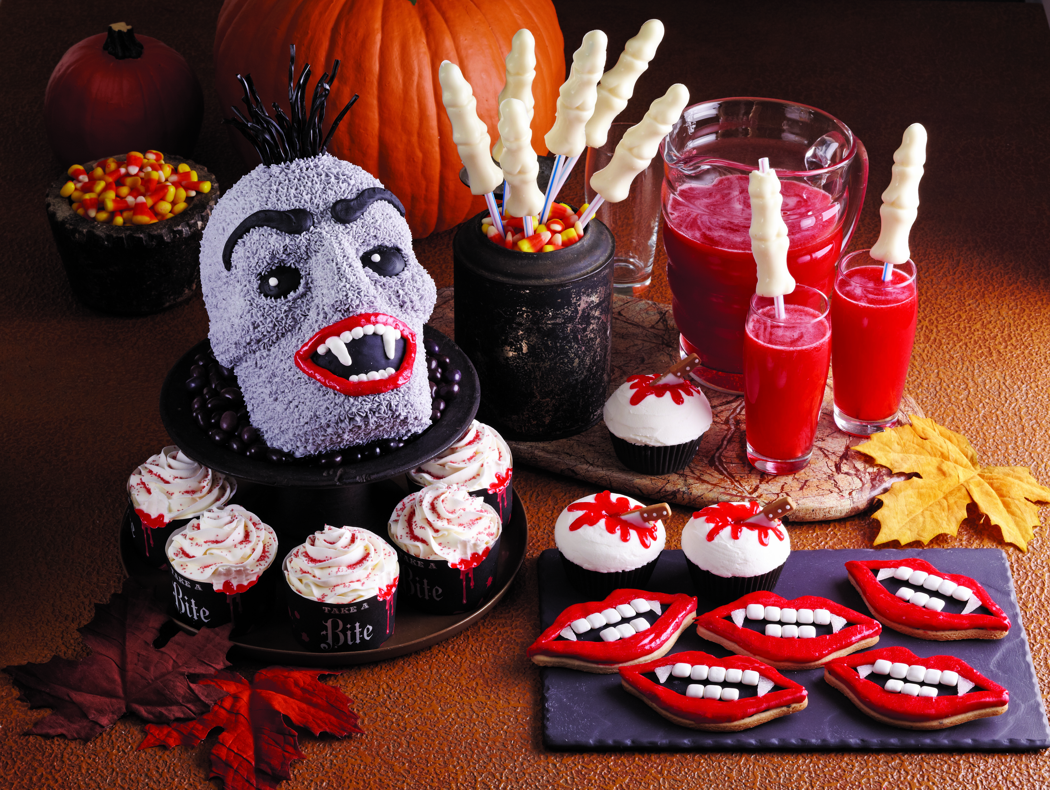 unique halloween food ideas fun halloween recipes for vampire and werewolf shaped treats - Unique Halloween Desserts