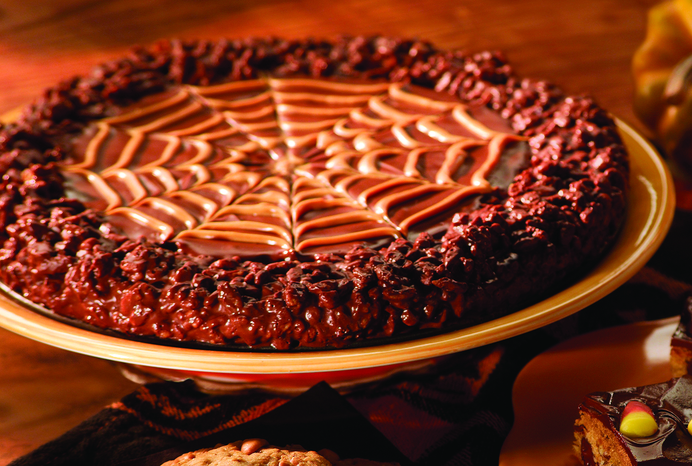 halloween dessert cake recipe spiderweb munch - Best Halloween Dessert Recipes