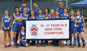 Stony Point 10-11 year old softball little league new york state champions