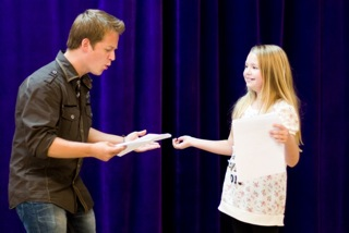 Jason Earles teaches Hannah Montana acting class