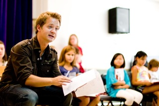 Jason Earles teaches Hannah Montana acting class to nyc students