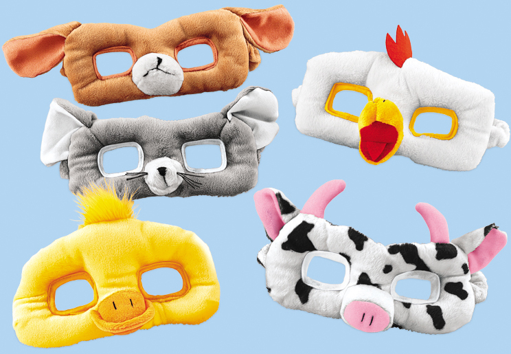 plush animal masks from Lakeshore Learning