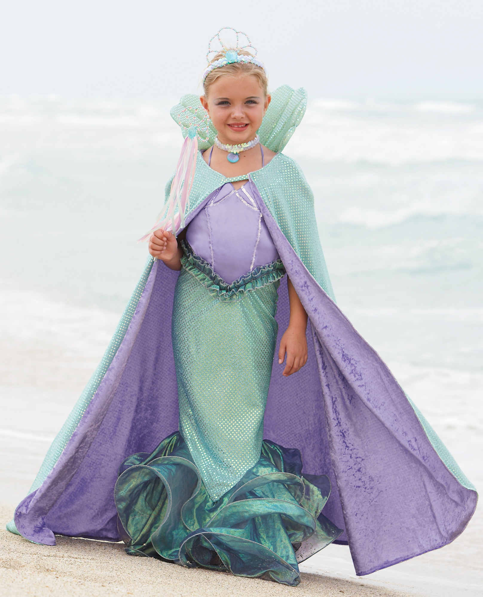 cape for mermaid costume