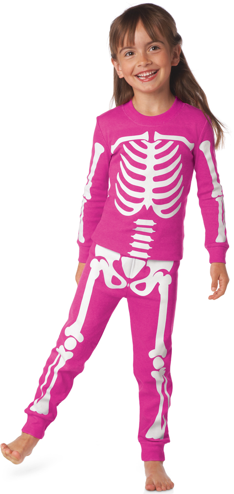 25ebf0eea Glow-in-the-Dark Skeleton Pajamas for Kids are Frighteningly Cute ...