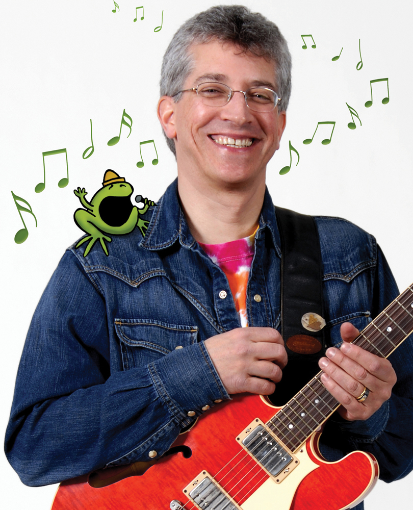 Ben Rudnick and a frog named Sam