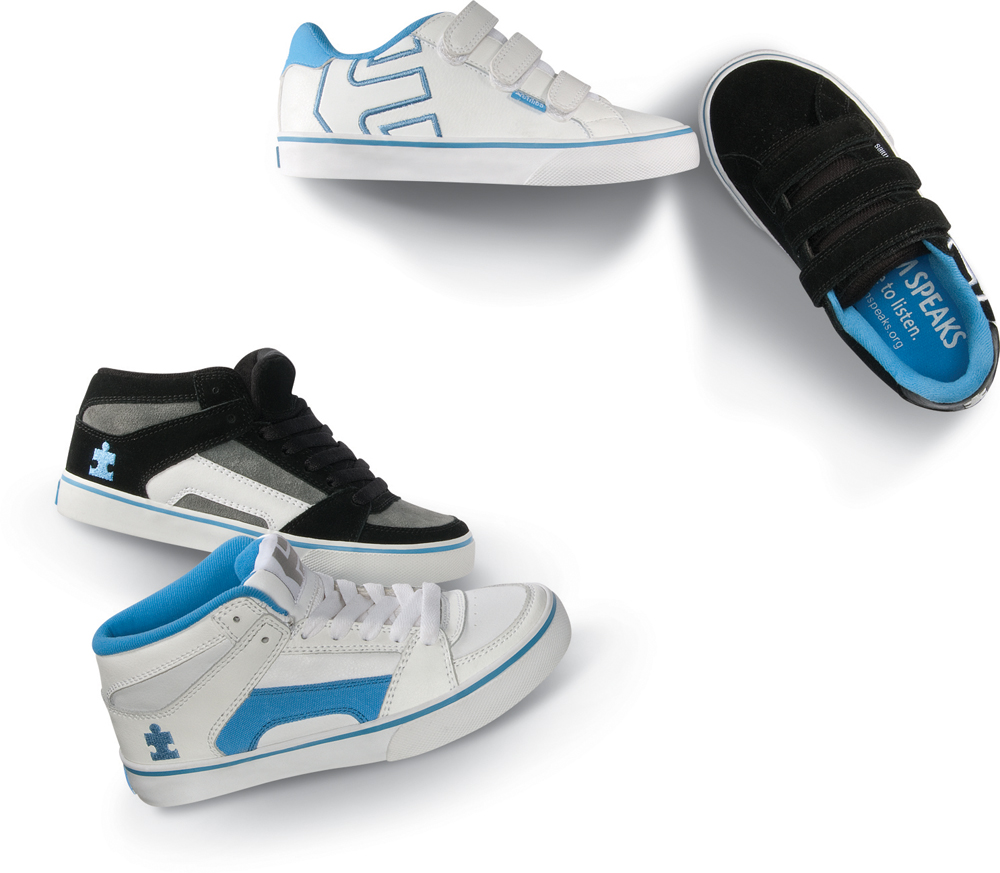 Etnies shoes for Autism Speaks
