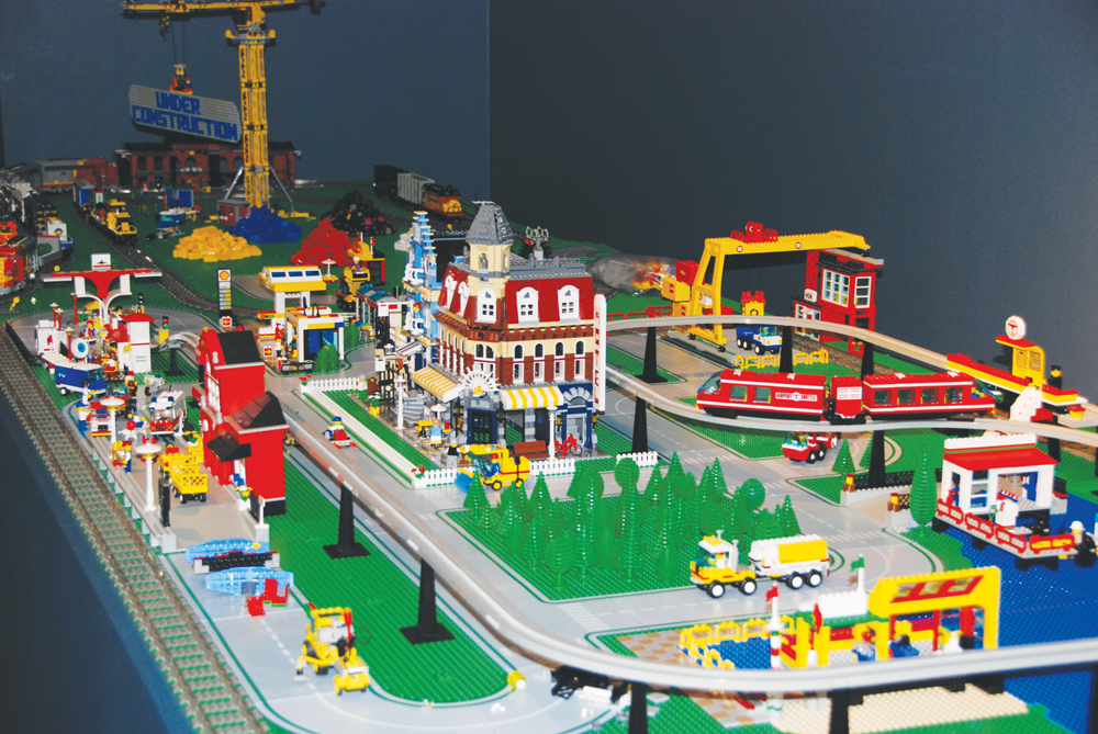 town made of LEGOs