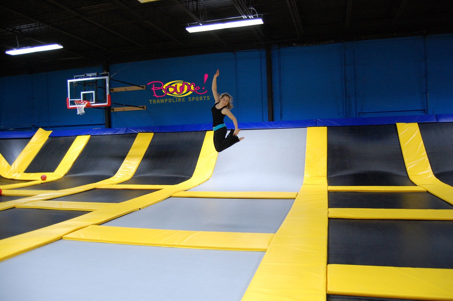 bounce trampoline sports opens in valley cottage