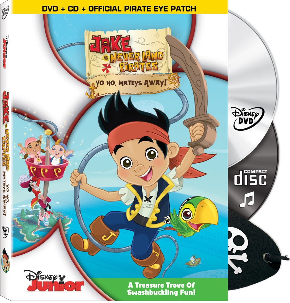 Jake and the Never Land Pirates DVD CD