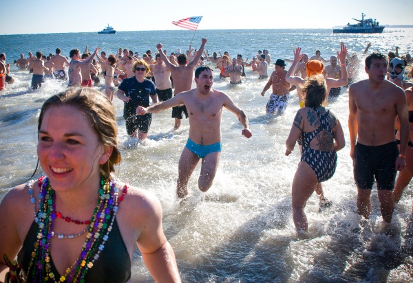 polar bear club coney island new year's day swim