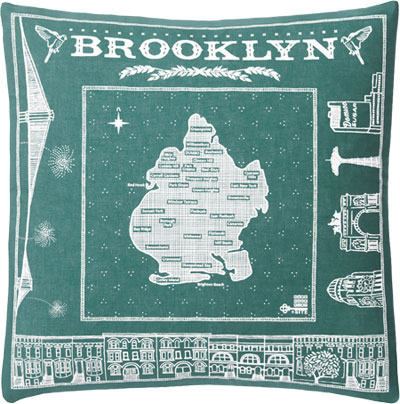 Brooklyn pillow in teal