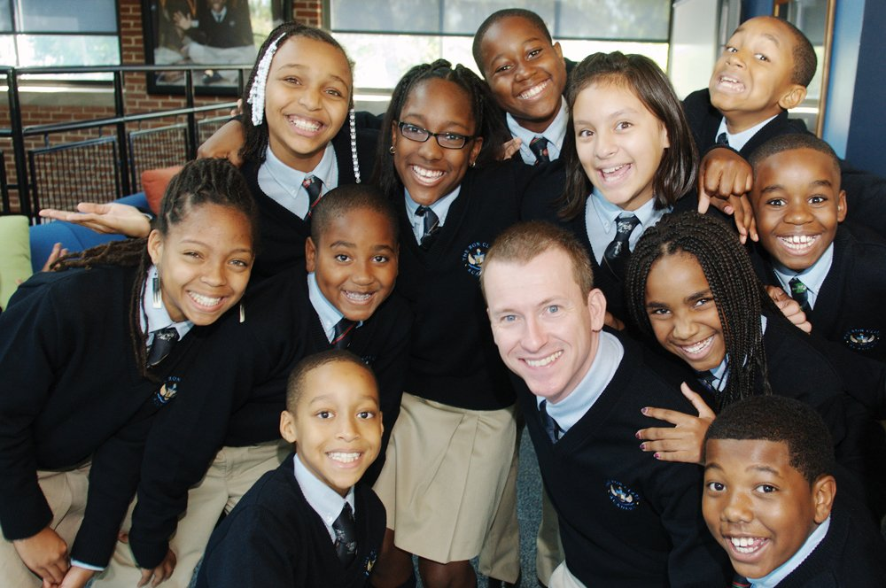Ron Clark and students