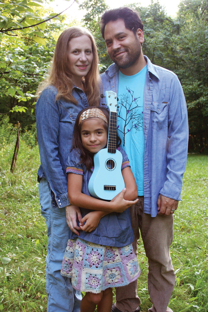 Elizabeth Mitchell and family