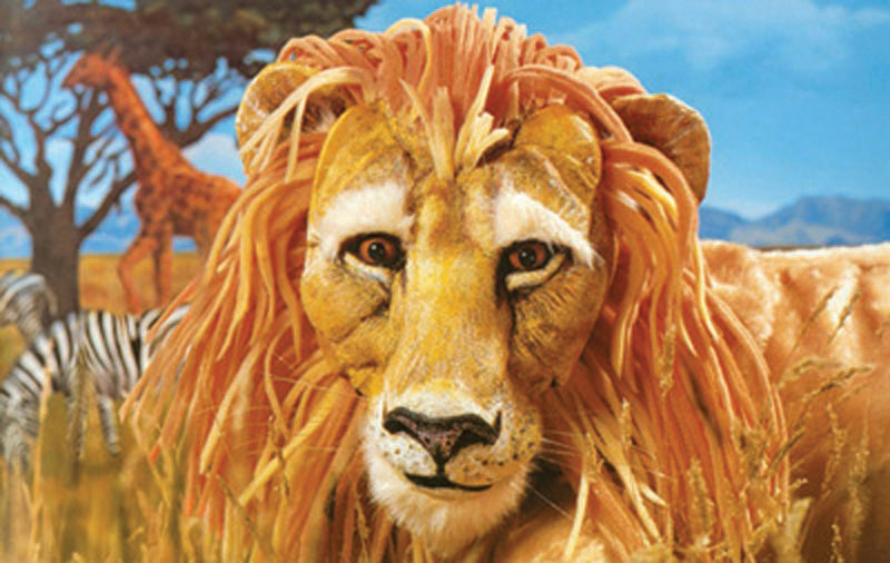 animated lion