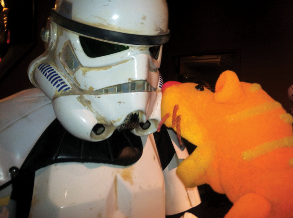 Stormtrooper with Tuffy Tiger puppet