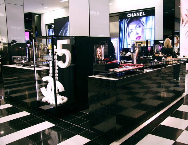 An interior view of Bloomingdale's.