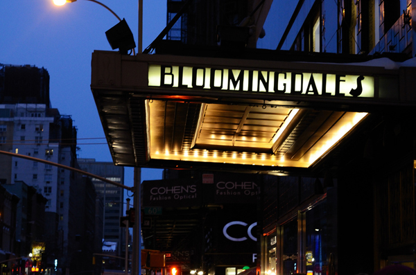 An exterior view of Bloomingdale's.