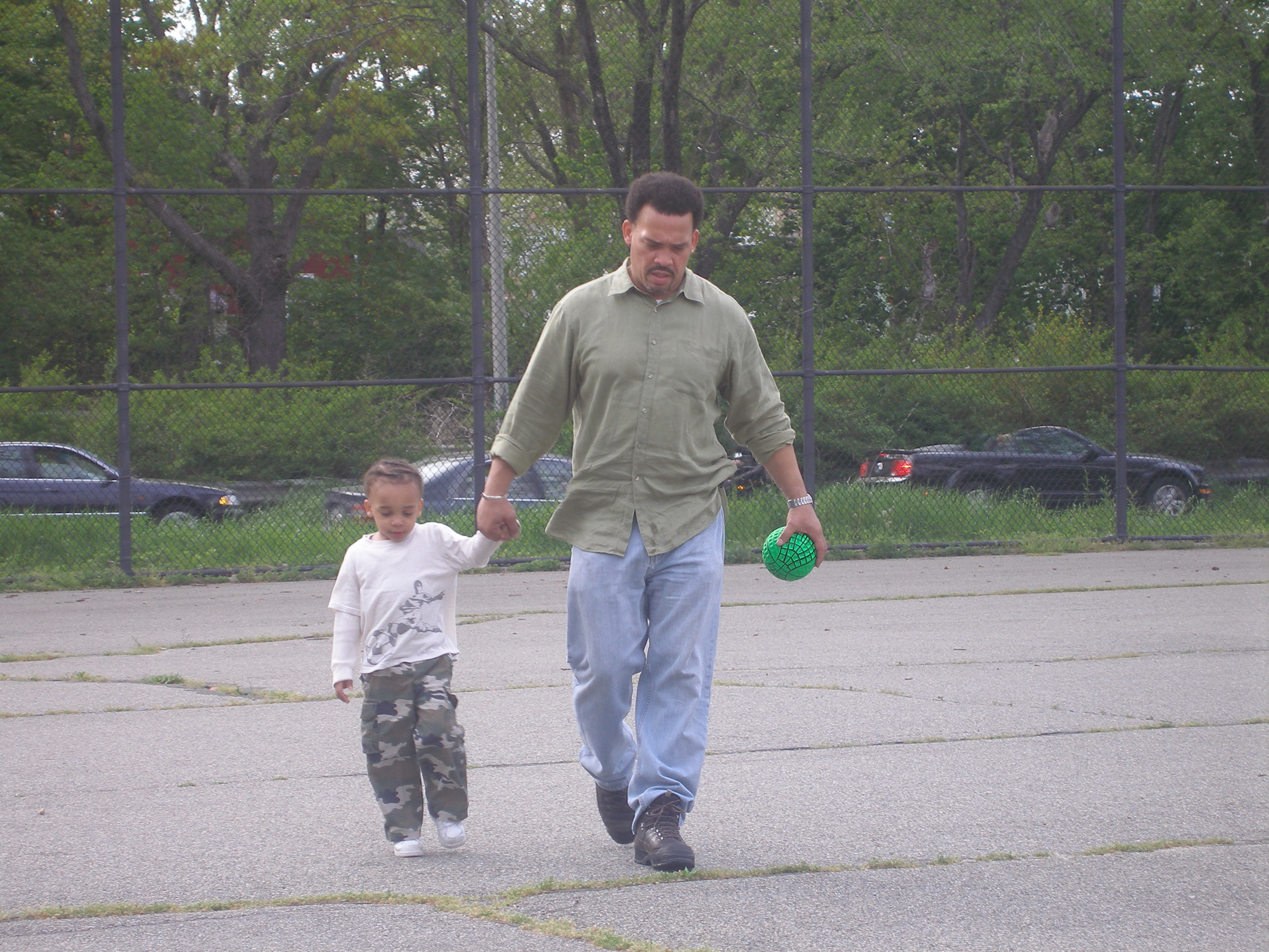 Charles Jones with his son, Malik, age 3.