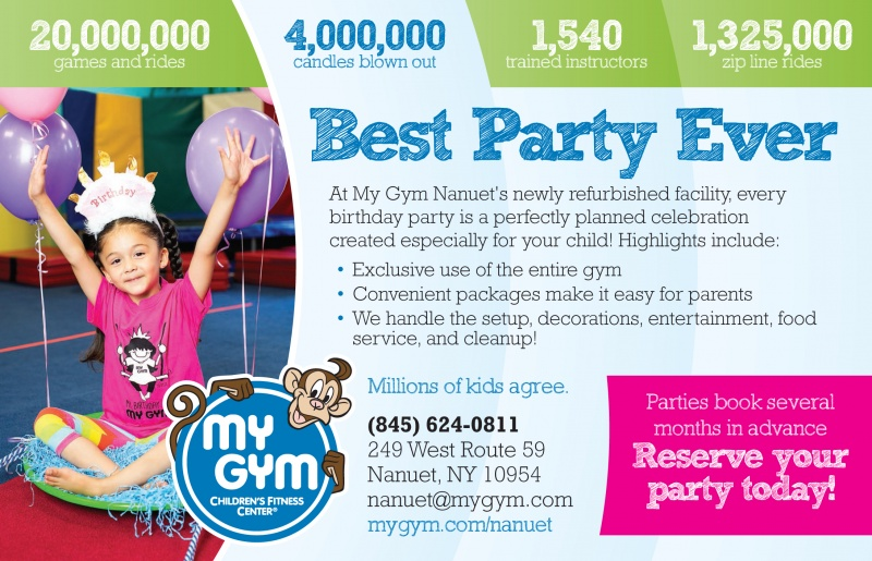 At My Gym Nanuets Fully Renovated Facility Every Birthday Party Is A Perfectly Planned Celebration Created