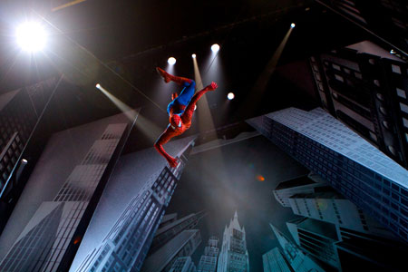 Spider-Man Turn Off the Dark on Broadway in NYC
