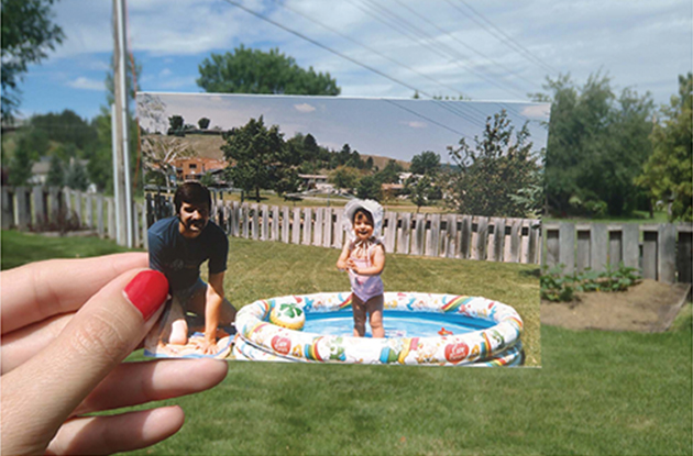 dear photograph father daughter pool