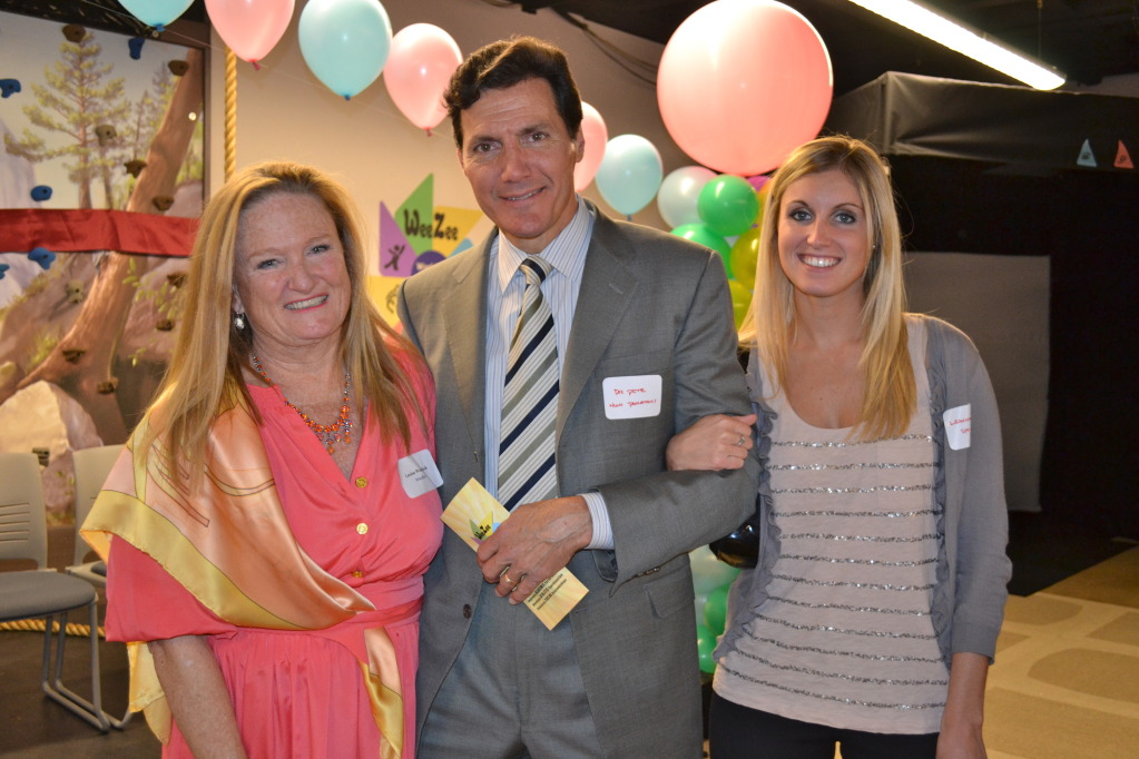 WeeZee Founder and Chief Executive Louise Weadock with Dr. Pete Richel, Chief of Pediatrics at Northern Westchester Hospital, and Dr. Richel's daughter, Leanna Richel