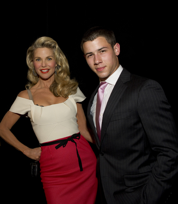 Christie Brinkley and Nick Jonas at Broadway Beacon Awards