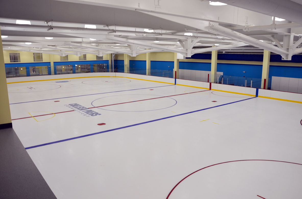 The new location will house ice rinks, swimming pools, water slides, an indoor turf field, and much more; Courtesy Chelsea Piers Connecticut