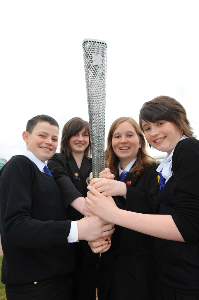 Winners of the STEMChallenge Paralympic torch contest.