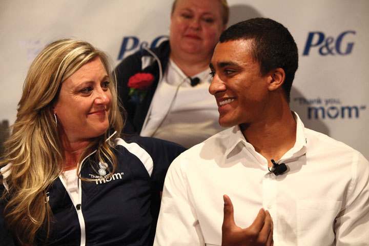 Olympian Ashton Eaton and his mother Roslyn Eaton