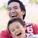 Dad and Son Laughing