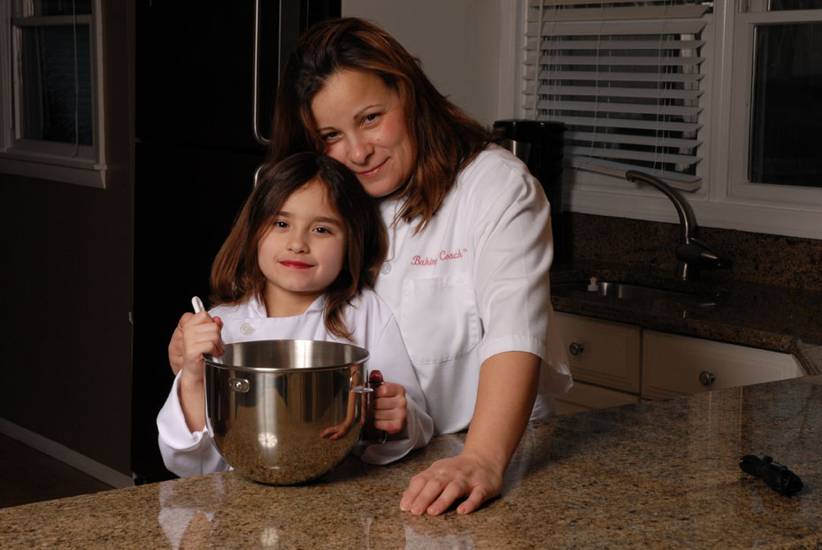 Baking Coach owner, Lisa Basini, and her daughter Ana; April Bier
