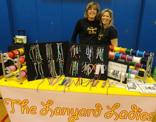 Colleen Demas (left) and Heidi Cohen (right) are the owners of The Lanyard Ladies; Steven Nicastro