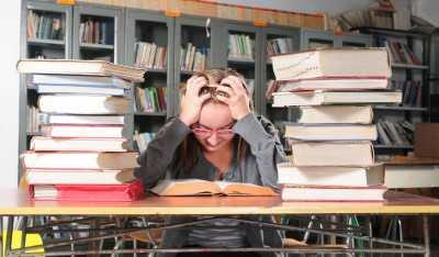 student stressed out by school schedule