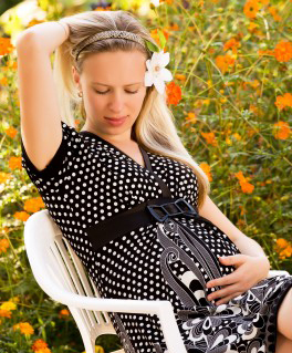 Pregnant Woman in the Summer