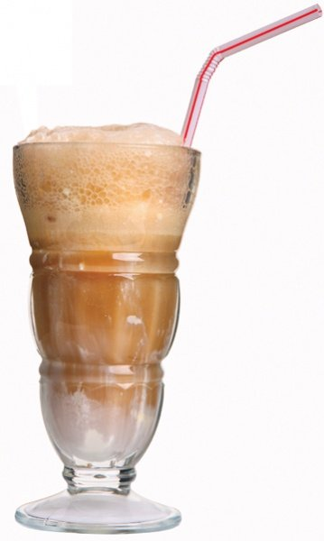 rootbeer float with one straw