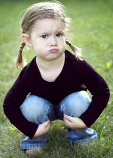 frustrated little girl