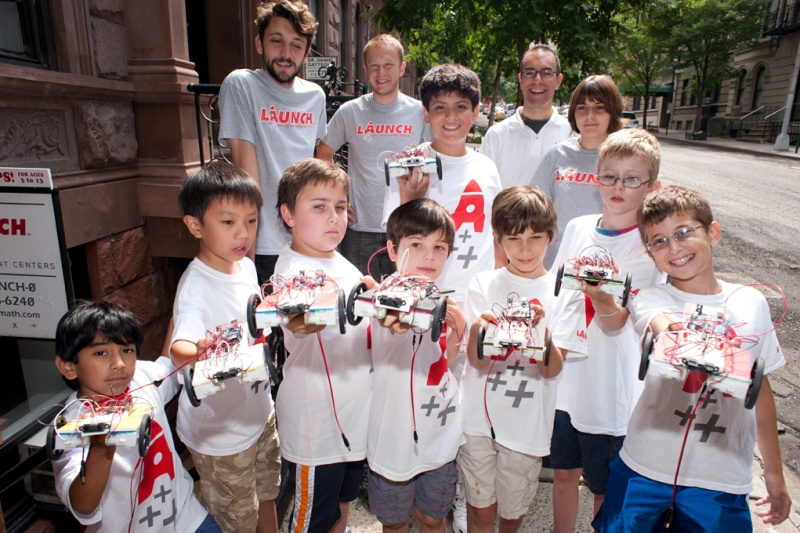 Launch Math and Science Center Robotics Campers