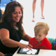 Mom and Kid with iPad