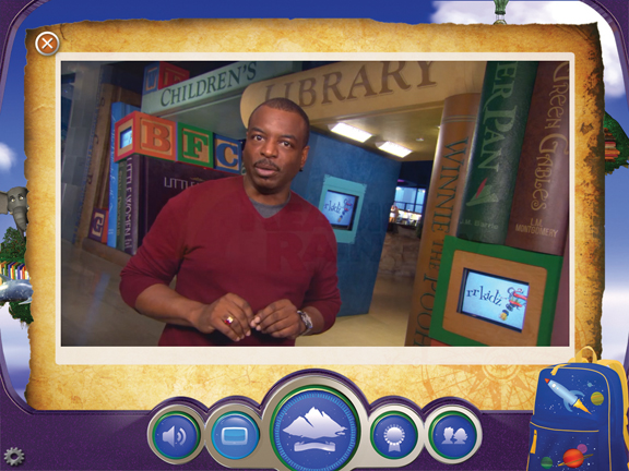 Reading Rainbow iPad app with LeVar Burton
